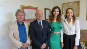 Ad Hollywood con Letizia Pinocci  nel  film family The White Stallion