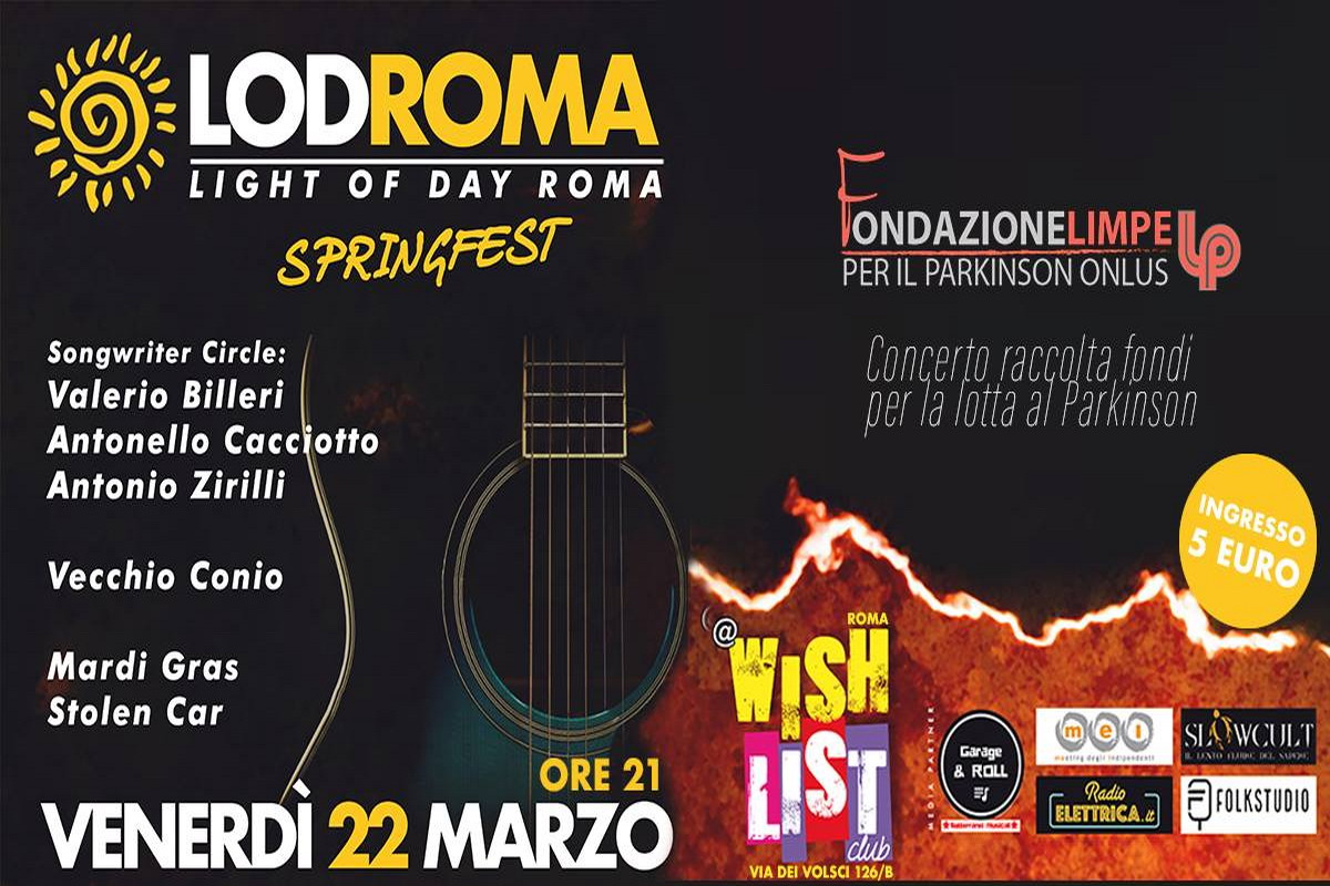 Light of Day Italia, il 22 marzo sul palco del Wishlist a San Lorenzo